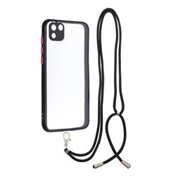 Necklace Cross-body Lanyard Strap Cord Phone Case Cover for Huawei Y5p - Black