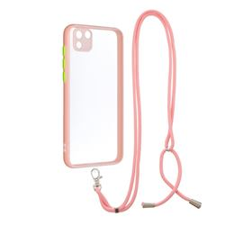 Necklace Cross-body Lanyard Strap Cord Phone Case Cover for Huawei Y5p - Pink