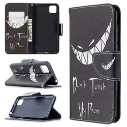 Crooked Grin Leather Wallet Case for Huawei Y5p