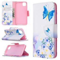Butterflies Flowers Leather Wallet Case for Huawei Y5p