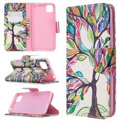 The Tree of Life Leather Wallet Case for Huawei Y5p