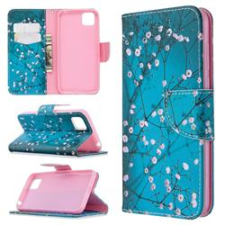 Blue Plum Leather Wallet Case for Huawei Y5p