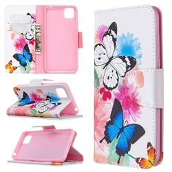 Vivid Flying Butterflies Leather Wallet Case for Huawei Y5p