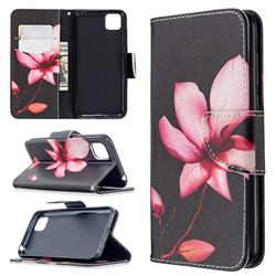 Lotus Flower Leather Wallet Case for Huawei Y5p