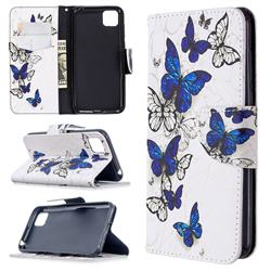 Flying Butterflies Leather Wallet Case for Huawei Y5p