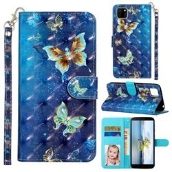 Rankine Butterfly 3D Leather Phone Holster Wallet Case for Huawei Y5p