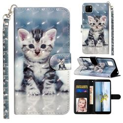 Kitten Cat 3D Leather Phone Holster Wallet Case for Huawei Y5p