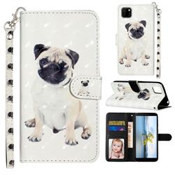 Pug Dog 3D Leather Phone Holster Wallet Case for Huawei Y5p