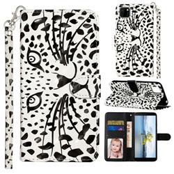 Leopard Panther 3D Leather Phone Holster Wallet Case for Huawei Y5p