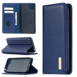 Binfen Color BF06 Luxury Classic Genuine Leather Detachable Magnet Holster Cover for Huawei Y5p - Blue