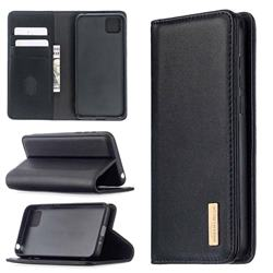 Binfen Color BF06 Luxury Classic Genuine Leather Detachable Magnet Holster Cover for Huawei Y5p - Black