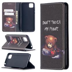 Chainsaw Bear Slim Magnetic Attraction Wallet Flip Cover for Huawei Y5p