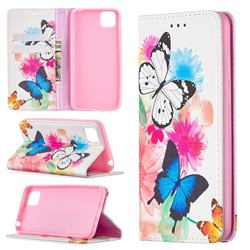 Flying Butterflies Slim Magnetic Attraction Wallet Flip Cover for Huawei Y5p