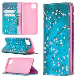 Plum Blossom Slim Magnetic Attraction Wallet Flip Cover for Huawei Y5p