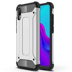 King Kong Armor Premium Shockproof Dual Layer Rugged Hard Cover for Huawei Y6 (2019) - White