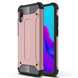 King Kong Armor Premium Shockproof Dual Layer Rugged Hard Cover for Huawei Y6 (2019) - Rose Gold
