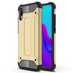 King Kong Armor Premium Shockproof Dual Layer Rugged Hard Cover for Huawei Y6 (2019) - Champagne Gold