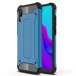 King Kong Armor Premium Shockproof Dual Layer Rugged Hard Cover for Huawei Y6 (2019) - Sky Blue