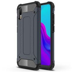 King Kong Armor Premium Shockproof Dual Layer Rugged Hard Cover for Huawei Y6 (2019) - Navy