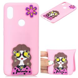 Violet Girl Soft 3D Silicone Case for Huawei Y6 (2019)