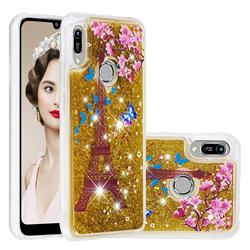 Golden Tower Dynamic Liquid Glitter Quicksand Soft TPU Case for Huawei Y6 (2019)