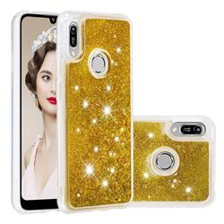 Dynamic Liquid Glitter Quicksand Sequins TPU Phone Case for Huawei Y6 (2019) - Golden