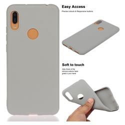 Soft Matte Silicone Phone Cover for Huawei Y6 (2019) - Gray