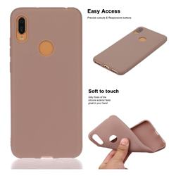 Soft Matte Silicone Phone Cover for Huawei Y6 (2019) - Khaki