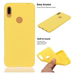 Soft Matte Silicone Phone Cover for Huawei Y6 (2019) - Yellow