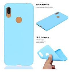 Soft Matte Silicone Phone Cover for Huawei Y6 (2019) - Sky Blue