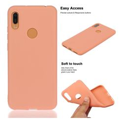 Soft Matte Silicone Phone Cover for Huawei Y6 (2019) - Coral Orange