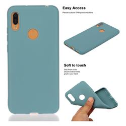 Soft Matte Silicone Phone Cover for Huawei Y6 (2019) - Lake Blue