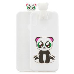 Panda Soft 3D Climbing Doll Stand Soft Case for Huawei Y6 (2019)