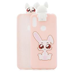 Cute Rabbit Soft 3D Climbing Doll Stand Soft Case for Huawei Y6 (2019)