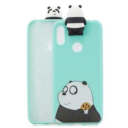 Striped Bear Soft 3D Climbing Doll Stand Soft Case for Huawei Y6 (2019)