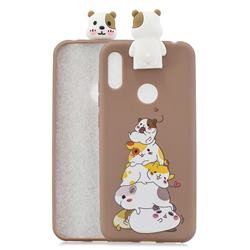 Hamster Family Soft 3D Climbing Doll Stand Soft Case for Huawei Y6 (2019)
