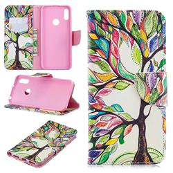 The Tree of Life Leather Wallet Case for Huawei Y6 (2019)
