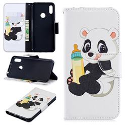 Baby Panda Leather Wallet Case for Huawei Y6 (2019)