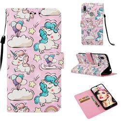 Angel Pony 3D Painted Leather Wallet Case for Huawei Y6 (2019)
