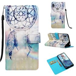 Fantasy Campanula 3D Painted Leather Wallet Case for Huawei Y6 (2019)