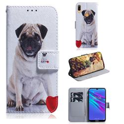 Pug Dog PU Leather Wallet Case for Huawei Y6 (2019)