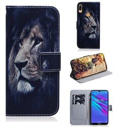 Lion Face PU Leather Wallet Case for Huawei Y6 (2019)