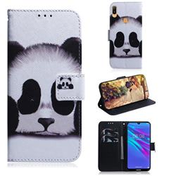 Sleeping Panda PU Leather Wallet Case for Huawei Y6 (2019)
