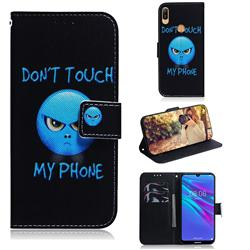 Not Touch My Phone PU Leather Wallet Case for Huawei Y6 (2019)