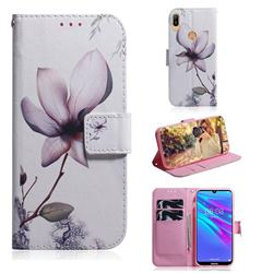 Magnolia Flower PU Leather Wallet Case for Huawei Y6 (2019)