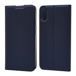 Ultra Slim Card Magnetic Automatic Suction Leather Wallet Case for Huawei Y6 (2019) - Royal Blue