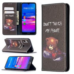 Chainsaw Bear Slim Magnetic Attraction Wallet Flip Cover for Huawei Y6 (2019)