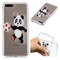 Football Panda Super Clear Soft TPU Back Cover for Huawei Y6 (2018)