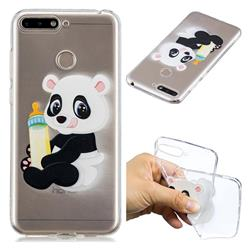 Baby Panda Super Clear Soft TPU Back Cover for Huawei Y6 (2018)