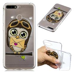 Envelope Owl Super Clear Soft TPU Back Cover for Huawei Y6 (2018)